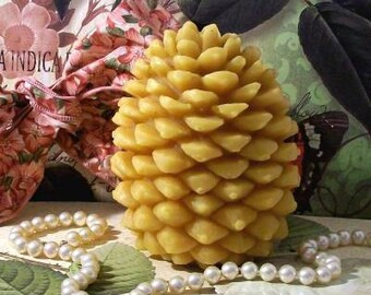 Beeswax Pinecone Pine Cone Candle Large Number 9