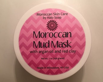 Moroccan Mud Mask with Argan Oil and Rose Geranium