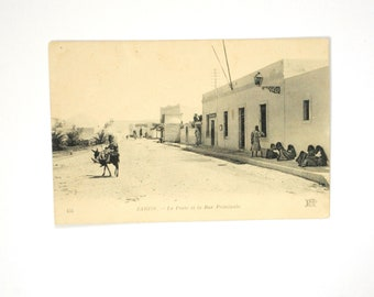 Street in Tunisia-old postcard - Neurdein ND photo - New York City Tunisia Africa from the North to 1910 black and white