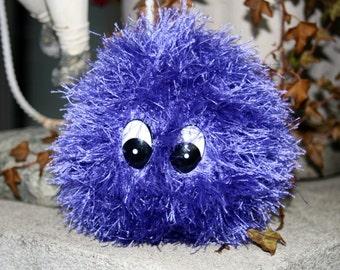 Plush Creature, Purple Monster Creature Toy, Crochet Plush Monster Creature