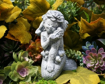 "Mermaid Statue - ""Mershell"" Concrete Mermaid Garden Sculpture"