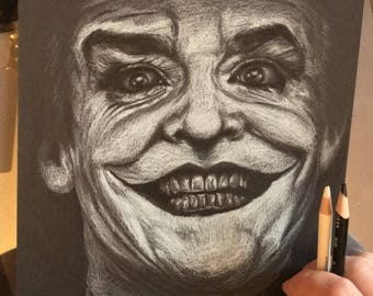 Original drawing 8.5x11 jack nicholson as the joker