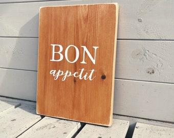 Bon Appetit - Wooden Sign