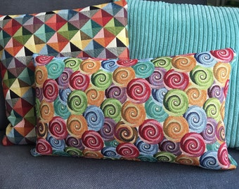"Swirl Tapestry 50x30cm 20""x12"" Rectangle Cushion Cover"