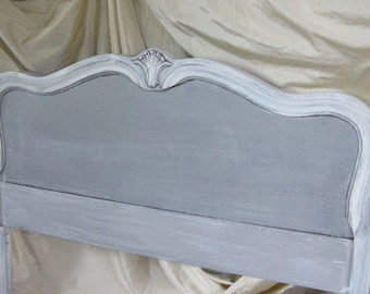 Headboard Full Size Bed Vintage French Provincial WOOD Bed Poppy Cottage Painted Furniture Custom PAINT to ORDER