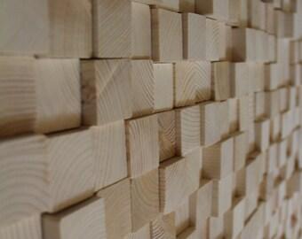 Reclaimed Wood Wall Art, Wooden Art Wall Sculpture, 3D Geometric Art, Wood Wall Art, Reclaimed Wood wall Art, wood mosaic