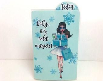TIFFANY'S GIRL Brunette (TN) Dashboard with Bookmark Flap | .3 Mil | DB003