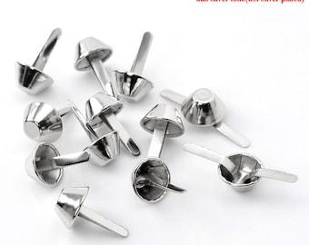 """Purse Feet - Silver Tone Rivet Studs - 15mm(1""""x5/8"""") x 24mm - Set of 20"""