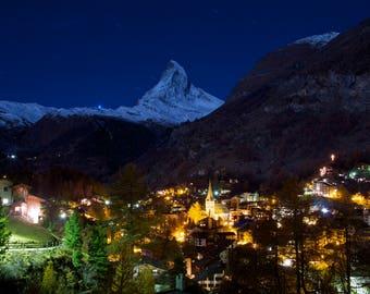 Zermatt Switzerland, a ski village around the Matterhorn