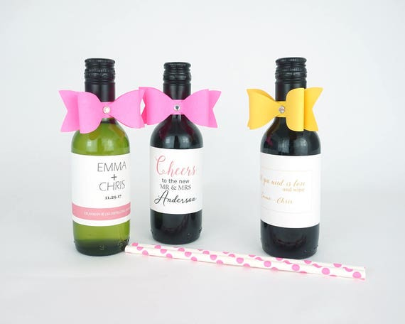 10 Paper bows with rhinestone mini wine paper ribbon mini