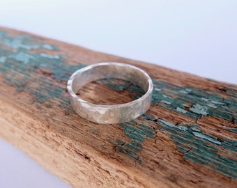 Hammered Ring, Sterling Silver Ring, Ring Band, Thumb Ring