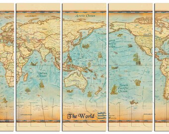 Ancient world map etsy political vintage ancient world map diptych triptych multi panel large canvas print gallery wrap gicle art dcor free shipping 40 off sale gumiabroncs Gallery