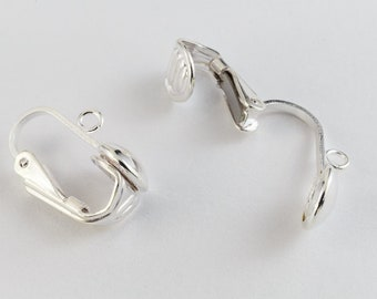 Sterling Silver Ear Clip with 6.5mm Dome #BSS017