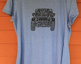 JEEP Tribal Tattoo LADIES Tri-Blend S/S T-Shirt (S-XL)