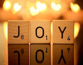 Whimsical, Art, Photography,JOY, Ready To Ship, Holiday Photograph, Joy Photograph, 8 by 10, Holiday Gift,2 In Stock