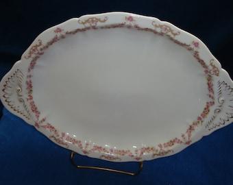 """Antique Vienna Austria Porcelain Platter 16.25"""" x 11.25"""" dates 1890-1909 Mint Condition"""
