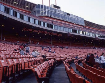 Candlestick Park Chairs under the Press Area  Including 5x7 Canvas Magnet