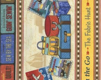 Row by Row 2017 / On The Go 11″ Border Stripe,  Timeless Treasures Row By Row Experience 2017 c5058 / By The Yard