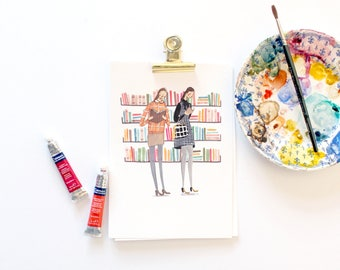 All Quiet in the Library A4 Art Print