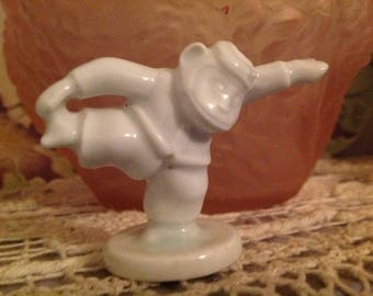 White porcelain, vintage late 20 century subject