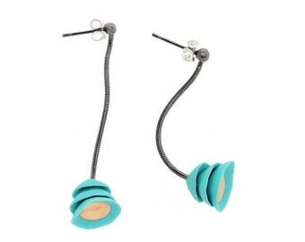 Lotus Earrings turquoise