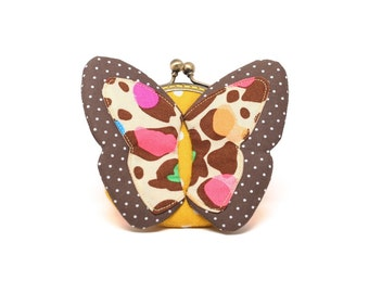 My secret brown butterfly coin purse