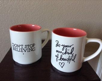 Message mugs, ceramic message mugs, Unique Mugs, DIY Mugs, Personalized Mugs, Costumized Mugs