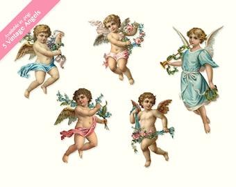 Vintage Little Angels Clip Art, digital artwork, collage, scrapbooking, paper craft and much more SALE
