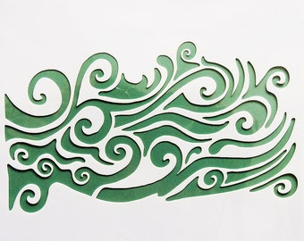 Ocean Wave Stencil - As Seen On Tv - 7 x 7 inch