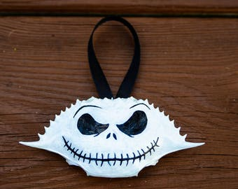 Nightmare Before Christmas Ornament, Nightmare Before Christmas, Jack Skellington, Christmas Ornament, Jack, Crab Shell