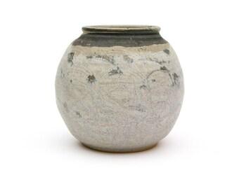 Grey Susany Art Pottery Orb Shape Vase
