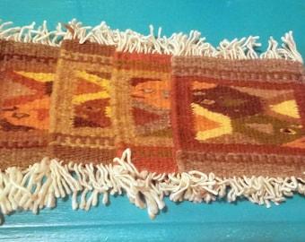Mini Navajo rug coasters