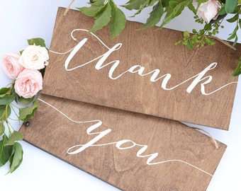 Thank You Signs for Wedding, Wooden Thank You signs, Wooden Wedding Signs, Wedding Thank You Signs