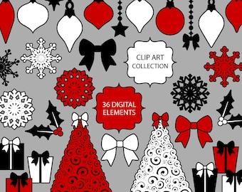 Modern Christmas Clip Art Collection