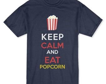 Keep Calm and Eat Popcorn Men's Dark Heather T-shirt