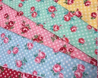 Atsuko Matsuyama Fabric - ATwo Fabric - 30s Collection - Fat Quarter Bundle - Floral Fabric - Yuwa