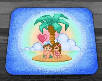 Island Adventure Love Mousepad