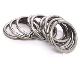 """Ring Smooth Antique Nickel 10 Pack 1-1/2"""" (3.8 cm) 1662-21"""
