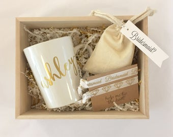 personalized bridesmaid gift box sets thank you or will you. Black Bedroom Furniture Sets. Home Design Ideas