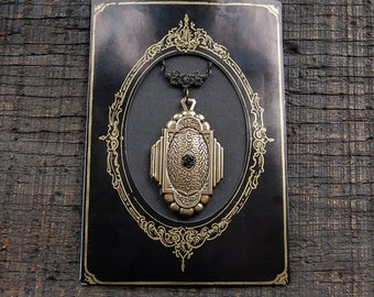 Mystery Locket  - Victorian Mourning Necklace