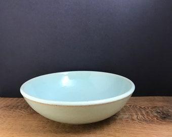 Pale blue bowl - pasta, salad, stir fry