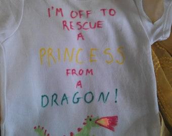 Rescue a princess baby vest