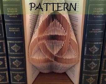 Book folding Pattern: IRISH TRIPLE Knot design (including instructions) – DIY gift – Papercraft Tutorial