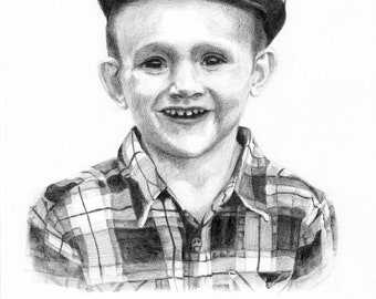 11 x 14 inch Custom Portrait or Pet Portrait Sketch