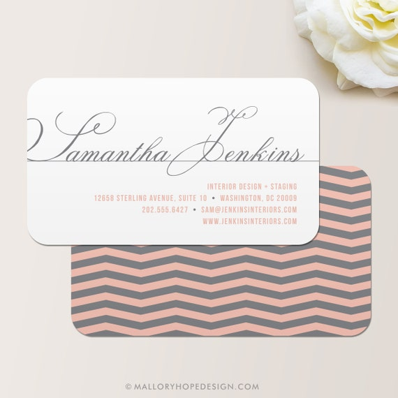Chevron business card calling card mommy card contact like this item colourmoves