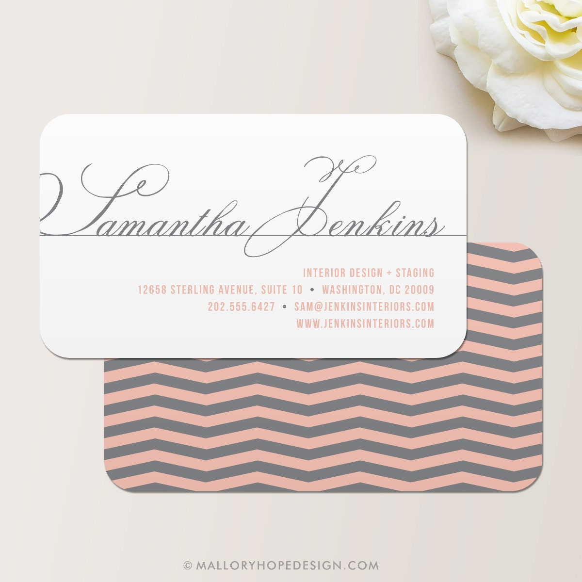 Chevron Business Card / Calling Card / Mommy Card / Contact