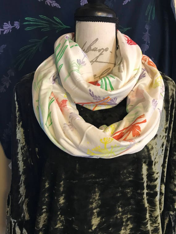 Spring fling Bamboo infinity scarf