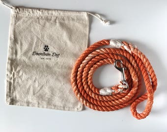 Harvest Solid Ombre or Marbled Cotton Rope Dog Leash