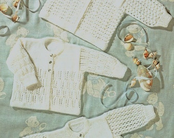 Baby Matinee Jackets, Knitting Pattern. PDF Instant Download.
