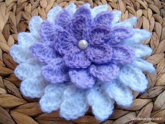 Crochet Flower Pattern Lilac Flower Diy Crafts Unique